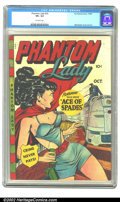 Golden Age (1938-1955):Superhero, Phantom Lady #20 (Fox, 1949) CGC VF+ 8.5 Off-white pages. The lovely Phantom Lady image by Matt Baker graces this absolutely...
