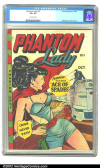 Phantom Lady #20 (Fox, 1949) CGC VF+ 8.5 Off-white pages. The lovely Phantom Lady image by Matt Baker graces this absolu...
