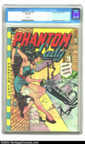 """Golden Age (1938-1955):Superhero, Phantom Lady #22 (Fox, 1949) CGC VF 8.0 White pages. Using his extensive reference file of photos and magazines of """"an adult..."""