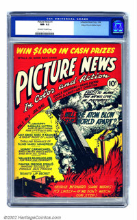 Picture News #1 Mile High pedigree (Lafayette Street Corp., 1946) CGC NM- 9.2 Off-white to white pages. Comic book meets...