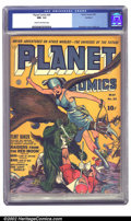 Golden Age (1938-1955):Science Fiction, Planet Comics #24 Rockford pedigree (Fiction House, 1943) CGC NM-9.2 Cream to off-white pages. This beautiful copy features...