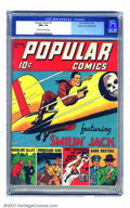 Golden Age (1938-1955):Cartoon Character, Popular Comics #71 Mile High pedigree (Dell, 1942) CGC NM+ 9.6 Off-white to white pages. A great Smilin' Jack airplane cover...
