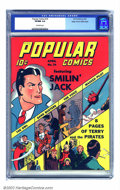 Golden Age (1938-1955):Cartoon Character, Popular Comics #74 Mile High pedigree (Dell, 1942) CGC VF/NM 9.0 Off-white pages. Another great book in this spectacular run...