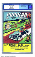 Golden Age (1938-1955):Cartoon Character, Popular Comics #81 Mile High pedigree (Dell, 1942) CGC VF+ 8.5Off-white to white pages. Terry and his buddies make their ge...