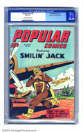Golden Age (1938-1955):Cartoon Character, Popular Comics #82 Mile High pedigree (Dell, 1942) CGC NM 9.4 Off-white to white pages. Smilin' Jack runs to his plane while...