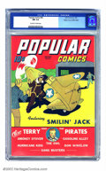 Golden Age (1938-1955):Cartoon Character, Popular Comics #83 Mile High pedigree (Dell, 1943) CGC NM 9.4 Off-white to white pages. Smilin' Jack has returned from a mis...