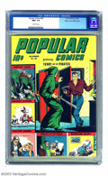 Golden Age (1938-1955):Adventure, Popular Comics #94 Mile High pedigree (Dell, 1943) CGC NM+ 9.6 Off-white pages. Oh, c'mon! Counterfeit? Reprint? Wrong, Gold...