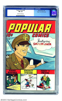 Popular Comics #95 Mile High pedigree (Dell, 1944) CGC FN+ 6.5 Off-white to white pages. Smilin' Jack's smile is blindin...