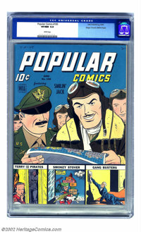 Popular Comics #100 Mile High pedigree (Dell, 1944) CGC VF/NM 9.0 White pages. Apparently all that keeps this beauty fro...