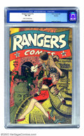 Golden Age (1938-1955):War, Rangers Comics #16 Rockford pedigree (Fiction House, 1944) CGC VF+8.5 Cream to off-white pages. Zolnerowich offers a timely...
