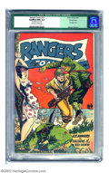 Golden Age (1938-1955):War, Rangers Comics #17 Pennsylvania pedigree (Fiction House, 1944) CGC Qualified NM+ 9.6 Off-white to white pages. Violent warti...