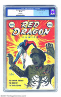 """Golden Age (1938-1955):Adventure, Red Dragon Comics Vol. 1, #7 (Street & Smith, 1943) CGC VF 8.0 Off-white pages. This eye-popping cover is rated a """"classic"""" ..."""