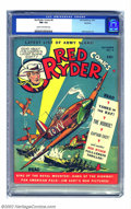 Golden Age (1938-1955):Western, Red Ryder Comics #4 Rockford pedigree (Dell, 1941) CGC NM 9.4 Creamto off-white pages. Even Red Ryder was getting in on the...