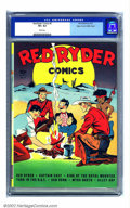 Golden Age (1938-1955):Western, Red Ryder Comics #6 Mile High pedigree (Dell, 1942) CGC VF+ 8.5White pages. Fred Harman tested just about all his crayola c...