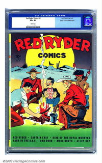 Red Ryder Comics #6 Mile High pedigree (Dell, 1942) CGC VF+ 8.5 White pages. Fred Harman tested just about all his crayo...