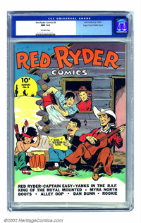 Red Ryder Comics #8 Mile High pedigree (Dell, 1942) CGC NM 9.4 Off-white pages. Lots of comic strip favorites appeared i...