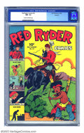 Golden Age (1938-1955):Western, Red Ryder Comics #14 Rockford pedigree (Dell, 1943) CGC NM- 9.2 Cream to off-white pages. Here is another fantastically high...