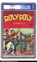 Golden Age (1938-1955):Miscellaneous, Roly Poly Comics #11 Mile High pedigree (Green Publishing Co., 1946) CGC NM- 9.2 White pages. This fairly obscure comic has ...
