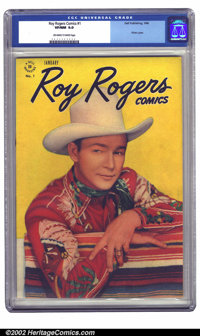 Roy Rogers Comics #1 (Dell, 1948) CGC VF/NM 9.0 Off-white to white pages. This copy has received the highest grade yet g...