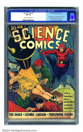 Golden Age (1938-1955):Science Fiction, Science Comics #1 (Fox, 1940) CGC FN 6.0 Cream to off-white pages.Offered here is the exceedingly rare first issue of this ...