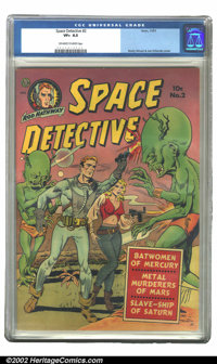 Space Detective #2 (Avon, 1951) CGC VF+ 8.5 Off-white to white pages. This awesome issue is the highest CGC-graded copy...