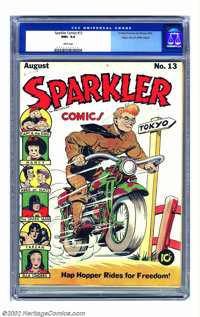 Sparkler Comics #13 Mile High pedigree (United Features Syndicate, 1942) CGC NM+ 9.6 White pages. Hap Hopper gets the co...