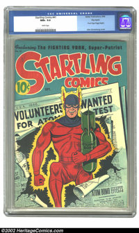 Startling Comics #41 Big Apple pedigree (Better Publications, 1946) CGC NM+ 9.6 White pages. A Pyroman/A-bomb cover by A...