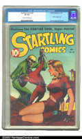 Golden Age (1938-1955):Science Fiction, Startling Comics #46 (Better Publications, 1947) CGC VF 8.0 Creamto off-white pages. Pre-EC-days' Graham Ingels offers one ...