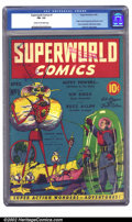 Golden Age (1938-1955):Science Fiction, Superworld Comics #1 (Hugo Gernsback, 1940) CGC FN- 5.5 Cream to off-white pages. This bizarre book was published by the pul...