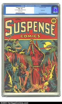 Suspense Comics #3 (Continental Magazines, 1944) CGC FN+ 6.5 Off-white pages. Few books inspire passion in collectors li...