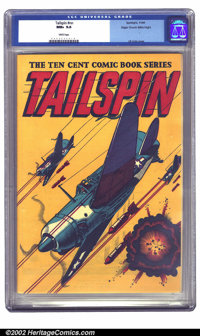 Tailspin #nn Mile High pedigree (Spotlight/Palace, 1944) CGC NM+ 9.6 White pages. L. B. Cole's dramatic airplane covers...