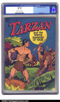 Golden Age (1938-1955):Miscellaneous, Tarzan #1 (Dell, 1948) CGC VF- 7.5 Off-white to white pages. The first issue of Tarzan's long run with Dell, it has great ar...