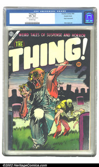 The Thing! #16 Double cover (Charlton, 1954) CGC VF+ 8.5 Off-white pages. Your prayers are answered! You wanted more cov...
