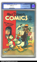 Golden Age (1938-1955):Cartoon Character, Walt Disney's Comics and Stories #31 (Dell, 1943) CGC FN/VF 7.0 Cream to off-white pages. Huey and Louie sneak to the front ...