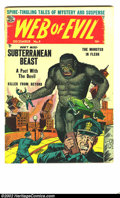 Golden Age (1938-1955):Horror, Web of Evil #9 Bethlehem pedigree (Quality, 1953) Condition: FN/VF.When viewing this book in person it is easy to see why t...