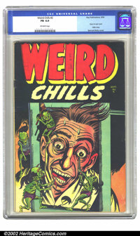 Weird Chills #2 (Key Publications, 1954) CGC FN 6.0 Off-white pages. This book is on everybody's want list. A truly amaz...
