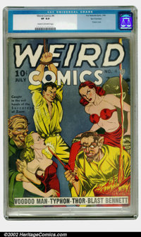 Weird Comics #4 San Francisco pedigree (Fox, 1940) CGC VF 8.0 Cream to off-white pages. Here is a basic rule of thumb th...