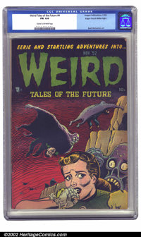 Weird Tales of the Future #4 Mile High pedigree (Aragon, 1952) CGC FN 6.0 Cream to off-white pages. It's difficult to be...