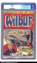 Golden Age (1938-1955):Humor, Wilbur #5 (MLJ, 1945) CGC FN+ 6.5 Off-white pages. This scarce issue features the first appearance of Katy Keene. The story ...