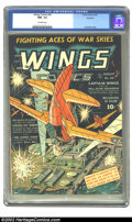 Golden Age (1938-1955):War, Wings Comics #24 Rockford pedigree (Fiction House, 1942) CGC NM-9.2 Off-white pages. More heart-thumping air-action in Fict...