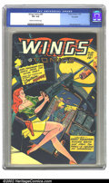 Golden Age (1938-1955):Science Fiction, Wings Comics #87 Big Apple pedigree (Fiction House, 1947) CGC VF+8.5 Cream to off-white pages. Here is a wonderful issue of...
