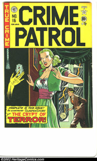 Crime Patrol #16 (EC, 1950) Condition: FN+. Johnny Craig was already turning in some beautiful covers by the time the Cr...