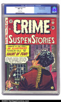 Golden Age (1938-1955):Crime, Crime SuspenStories #6 Gaines File pedigree 3/12 (EC, 1953) CGC NM+ 9.6 Off-white pages. Of all the great artists at EC, Joh...