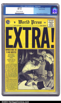 Extra! #3 Gaines File pedigree 10/12 (EC, 1955) CGC NM 9.4 Off-white to white pages. This is a supremely attractive copy...