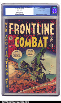 Frontline Combat #3 Gaines File pedigree Certificate Missing (EC, 1951) CGC NM+ 9.6 Off-white to white pages. Editor Har...