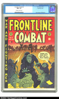 Golden Age (1938-1955):War, Frontline Combat #6 Gaines File pedigree 6/9 (EC, 1952) CGC NM+ 9.6Off-white to white pages. This title remains one of the ...