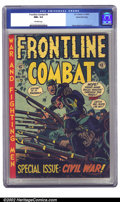 Golden Age (1938-1955):War, Frontline Combat #9 Gaines File pedigree 3/10 (EC, 1952) CGC NM+ 9.6 Off-white pages. Kurtzman's final cover on the title dr...