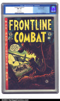 Golden Age (1938-1955):War, Frontline Combat #11 Gaines File pedigree 3/11 (EC, 1953) CGC NM- 9.2 Off-white pages. Jack Davis' first of two covers for t...