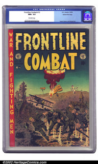 Frontline Combat #13 Gaines File pedigree 3/12 (EC, 1953) CGC NM+ 9.6 Off-white pages. With a Wally Wood cover and art...