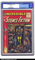 Golden Age (1938-1955):Science Fiction, Incredible Science Fiction #32 (EC, 1955) CGC VF+ 8.5 Off-whitepages. Jack Davis created one of his most memorable covers f...